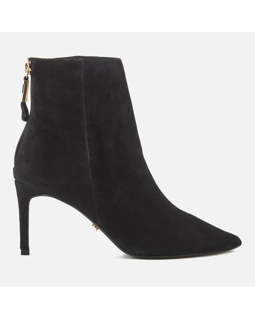 Dune - Black Women's Oralia Suede Heeled Ankle Boots - Lyst