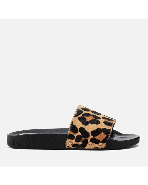 Dune | Black Lana Slide Sandals | Lyst