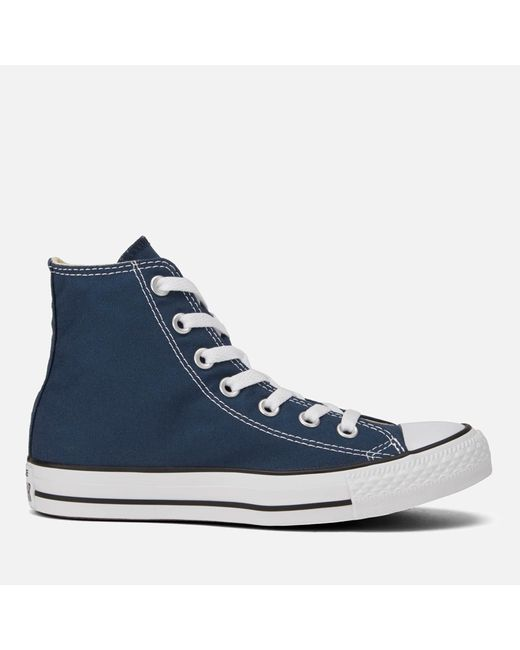 Converse - Blue Unisex Chuck Taylor All Star Canvas Hitop Trainers for Men - Lyst