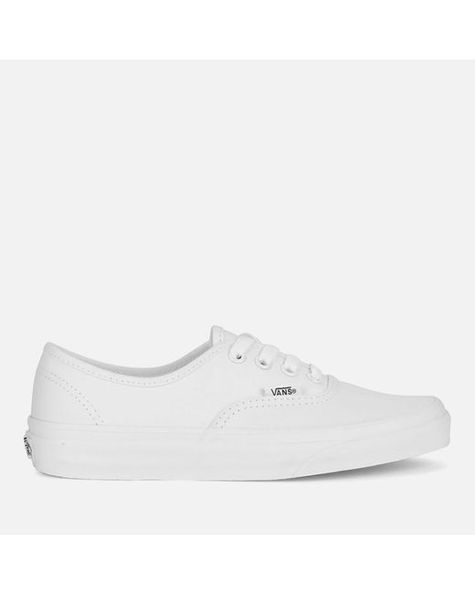 Vans - White Authentic Canvas Trainers for Men - Lyst