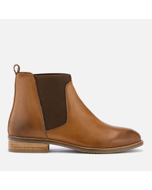 Dune | Brown Women's Quote Leather Chelsea Boots | Lyst