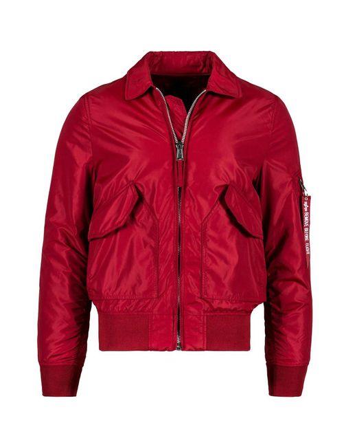 Alpha Industries - Red Cwu 36p Mod Flight Jacket for Men - Lyst