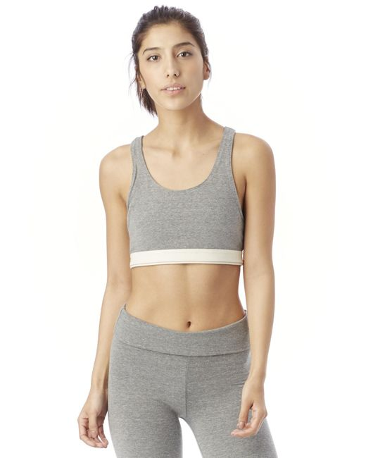 Alternative Apparel | Gray Contender Eco-lycra Racerback Bra | Lyst