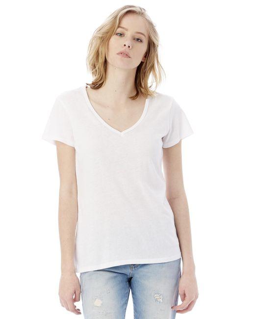 alternative apparel keepsake vintage jersey v neck t shirt