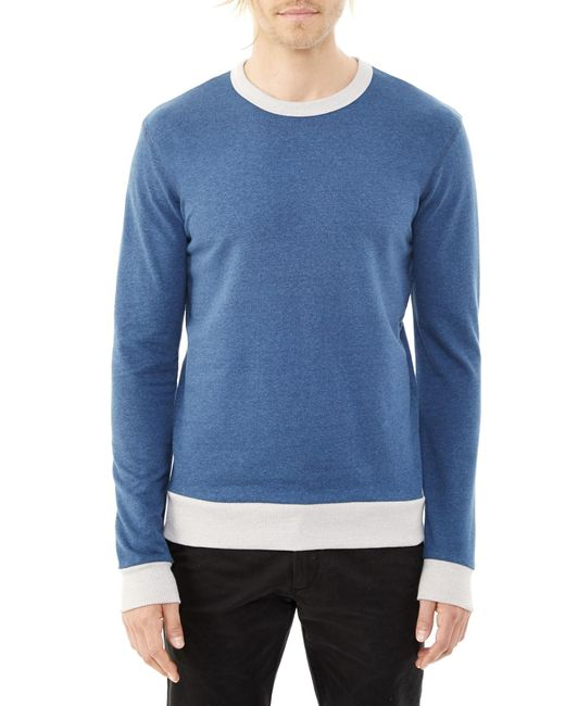 Alternative Apparel | Blue Champ Eco-mock Twist Ringer Sweatshirt for Men | Lyst