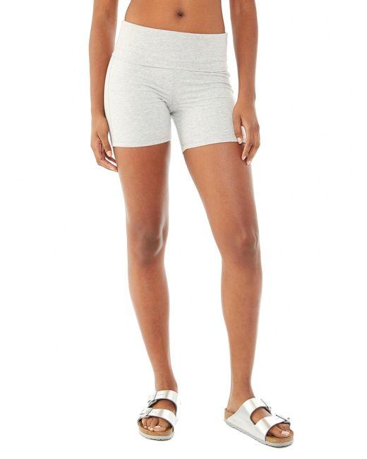 Alternative Apparel   Gray Pull Up Spandex Jersey Shorts   Lyst