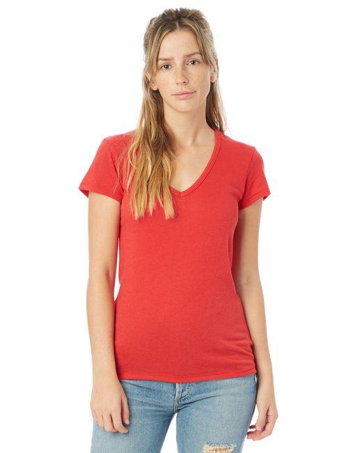 Alternative Apparel - Black Keepsake Vintage Jersey V-neck T-shirt - Lyst