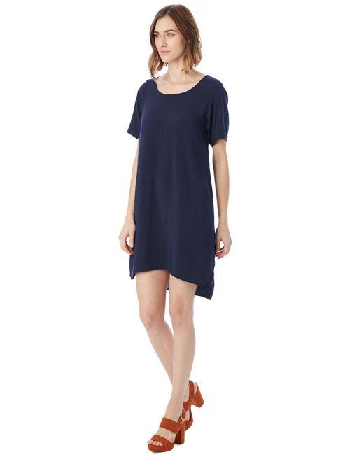 Alternative Apparel   Blue Rayon Challis Shift Dress   Lyst
