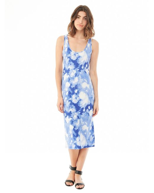 Alternative Apparel | Blue Cotton Modal Racerback Midi Dress | Lyst