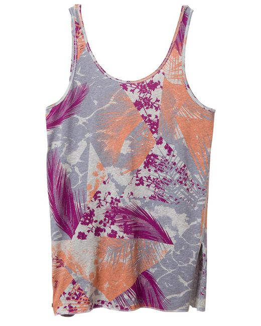 Alternative Apparel | Pink Side Kick Printed Tissue Slub Tank Top | Lyst