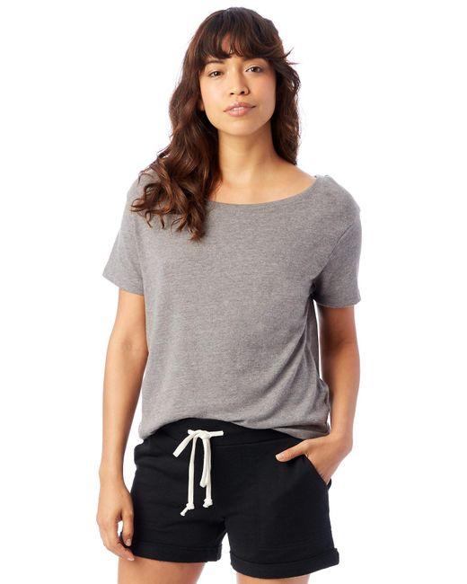 Alternative Apparel - Gray Backstage Vintage Jersey T-shirt - Lyst