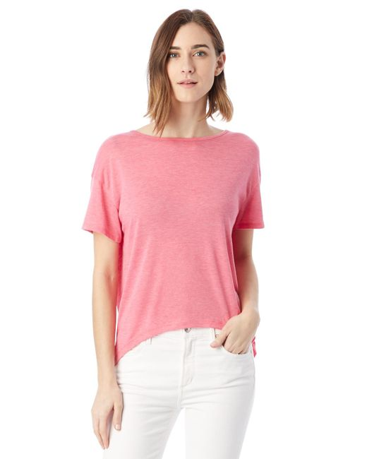 Alternative Apparel - Pink Pony Melange Burnout T-shirt W/ Back Strap - Lyst