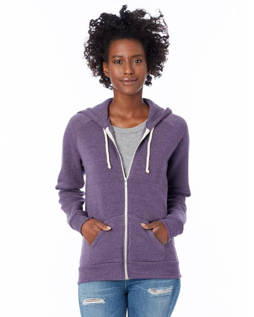 Alternative Apparel | Purple Adrian Eco-fleece Zip Hoodie | Lyst
