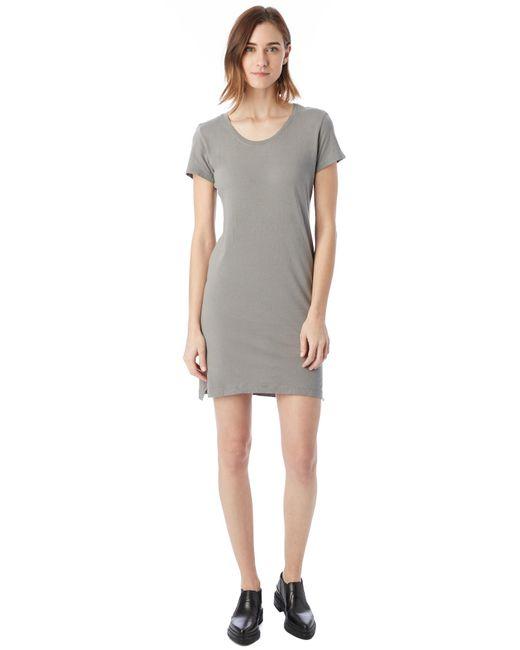 Alternative Apparel - Gray Legacy Garment Dyed T-shirt Dress - Lyst