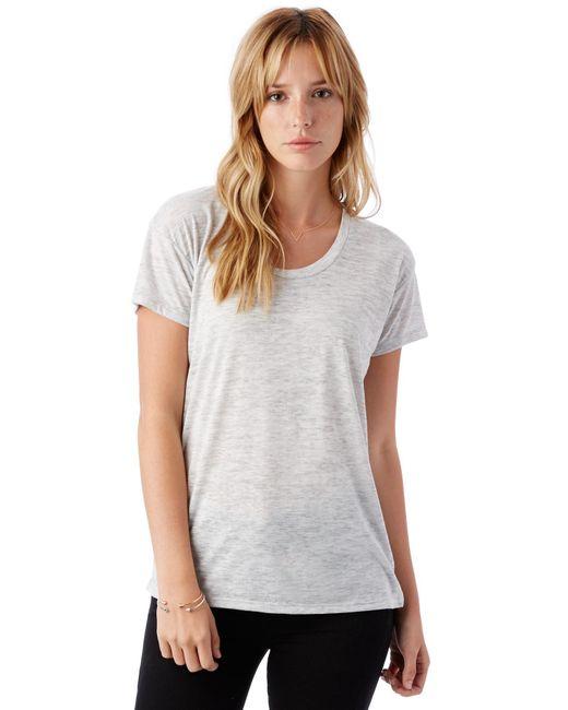 Alternative Apparel - Natural Kimber Melange Burnout T-shirt - Lyst