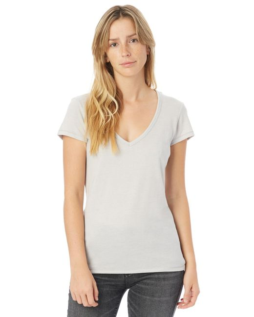 Alternative Apparel - Gray Keepsake Vintage Jersey V-neck T-shirt - Lyst