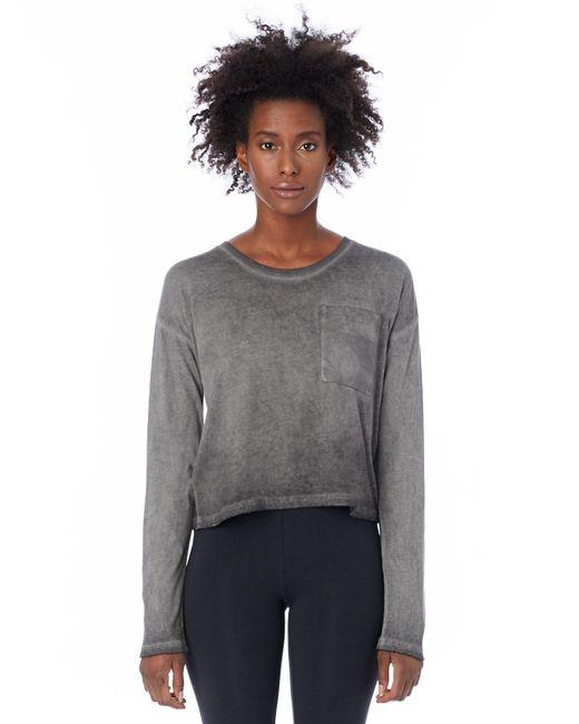 Alternative Apparel | Gray Element Wash High-waisted T-shirt | Lyst