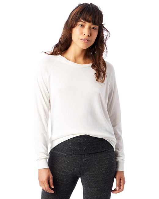 Alternative Apparel White Slouchy Eco-jersey Pullover