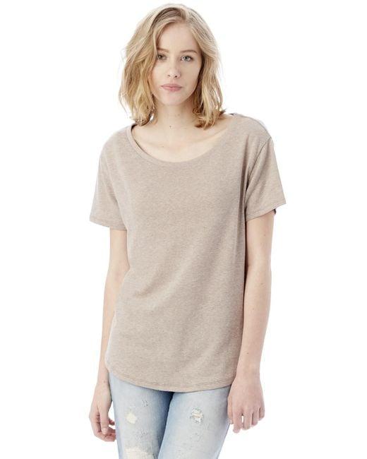 Alternative Apparel   Natural Backstage Vintage Jersey T-shirt   Lyst