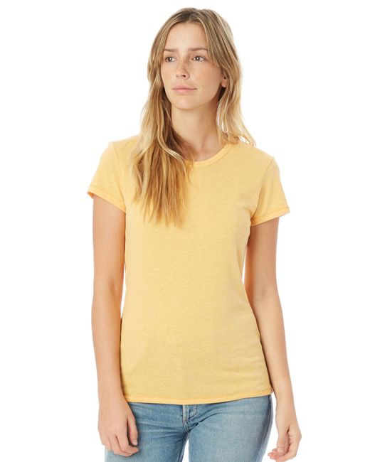 Alternative Apparel - Yellow Keepsake Vintage Jersey T-shirt - Lyst