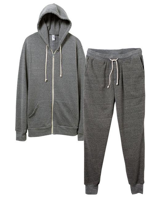 Alternative Apparel   Gray Warm-up Suit Hoodie And Pants 2-pk Bundle for Men   Lyst