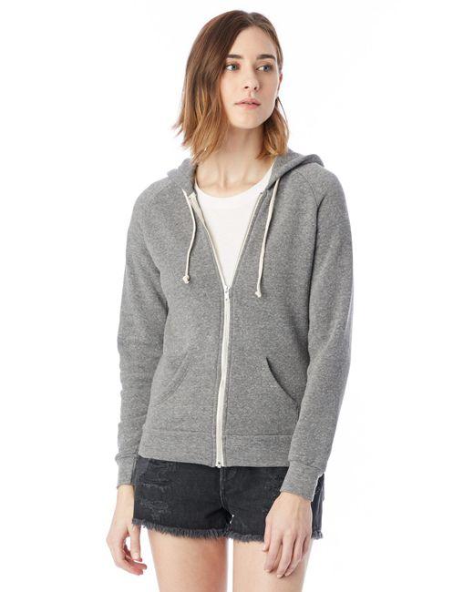 Alternative Apparel - Gray Adrian Eco-fleece Zip Hoodie - Lyst