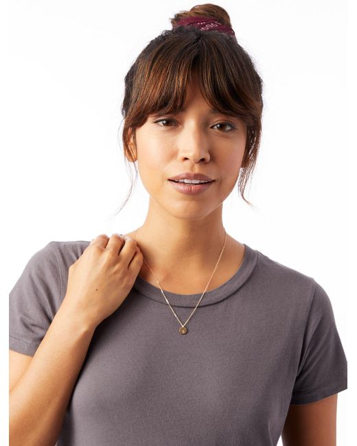Alternative Apparel - Metallic Fashionable Tiny Tag Necklace- Letter S - Lyst