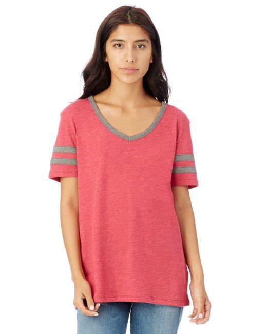 Alternative Apparel - Pink Varsity Vintage Jersey T-shirt - Lyst
