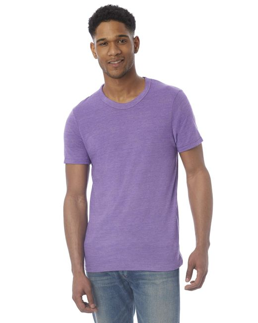 Alternative Apparel - Purple Eco-jersey Crew T-shirt for Men - Lyst