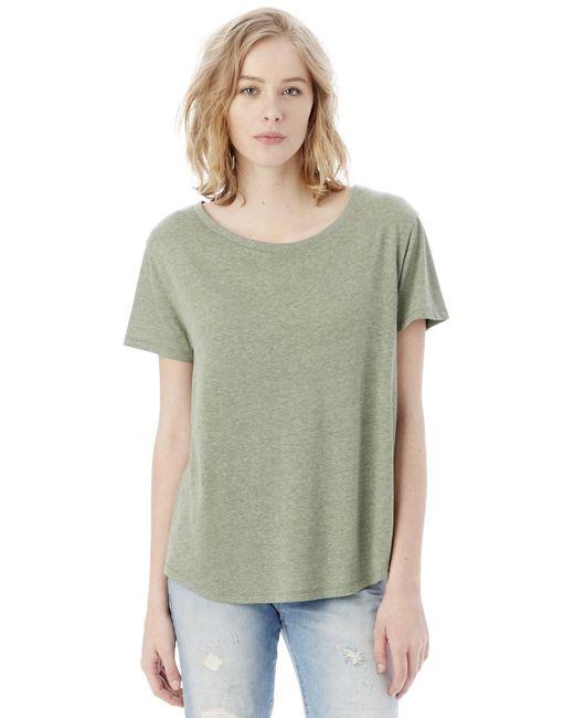 Alternative Apparel - Green Backstage Vintage Jersey T-shirt - Lyst