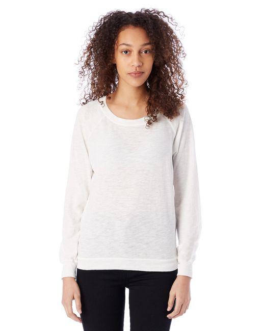 Alternative Apparel - White Slouchy Washed Slub Pullover Sweatshirt - Lyst