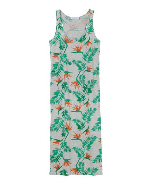 Alternative Apparel | Gray Cotton Modal Racerback Midi Dress | Lyst