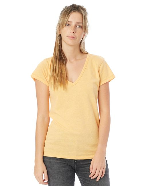 Alternative Apparel - Orange Keepsake Vintage Jersey V-neck T-shirt - Lyst