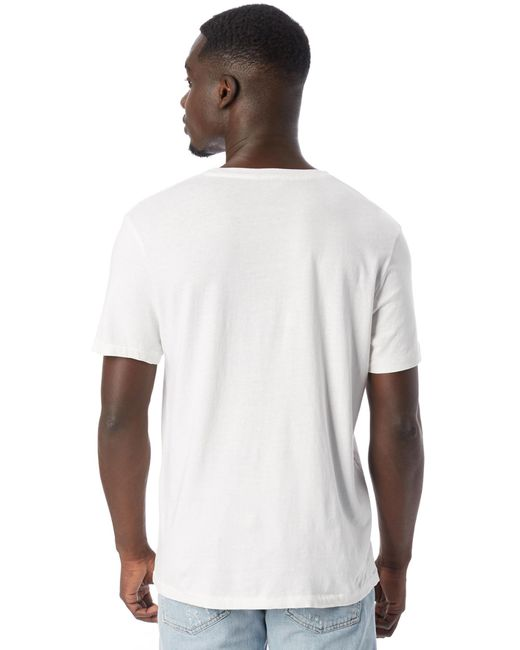 eb83d397e ... Alternative Apparel - White The Outsider Heavy Wash Jersey T-shirt for  Men - Lyst ...