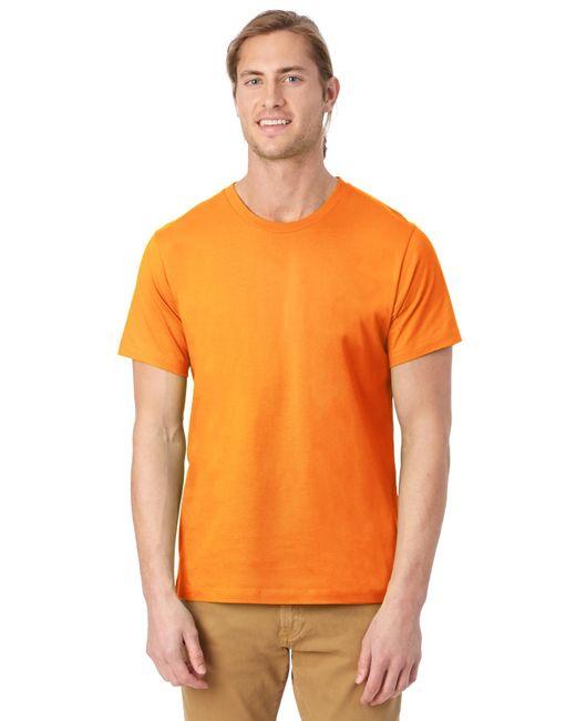 Alternative Apparel - Orange Basic Mens Crew T-shirt for Men - Lyst