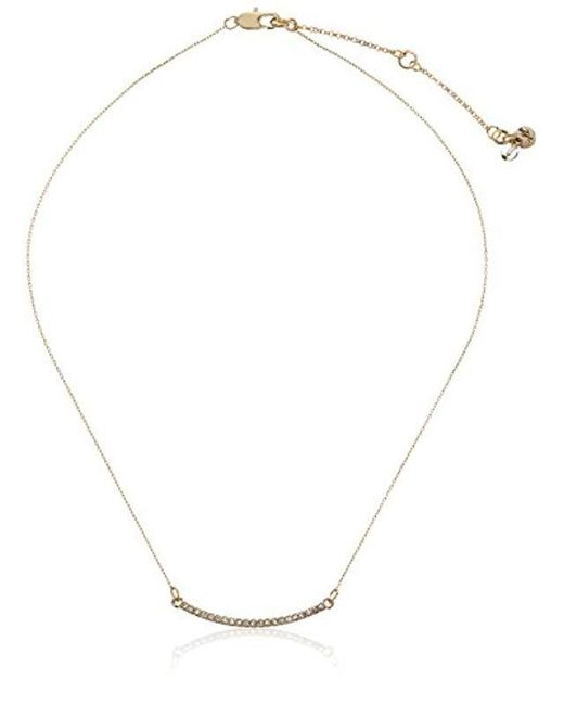 "Kenneth Cole - Metallic ""delicates"" Pave Bar Necklace, 14''+2.5'' Extender - Lyst"