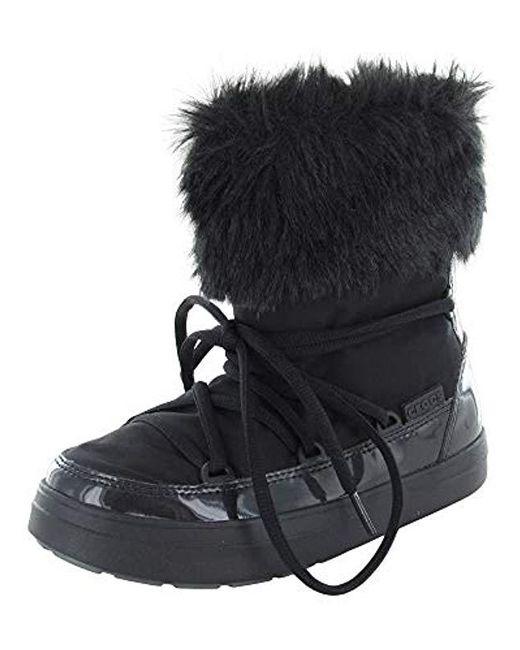 Crocs™ Black Lodge Point Lace Snow Boot