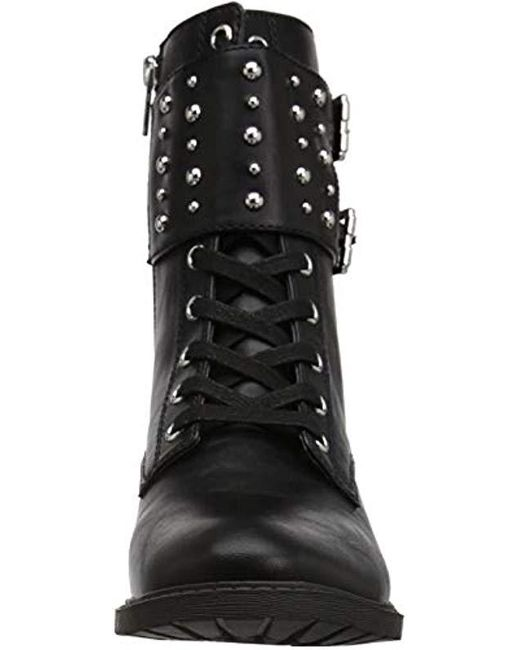 69d613f44198 Lyst - Circus by Sam Edelman Deena Combat Boot in Black - Save 80%