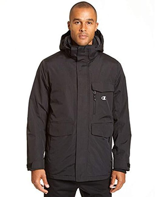 096438b2c0c Champion - Black High Performance Jacket With Sherpa Lining - Big Sizes for  Men - Lyst ...