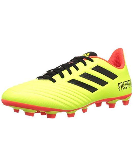 f2552d7cb33 Adidas - Yellow Predator 18.4 Firm Ground Soccer Shoe for Men - Lyst ...