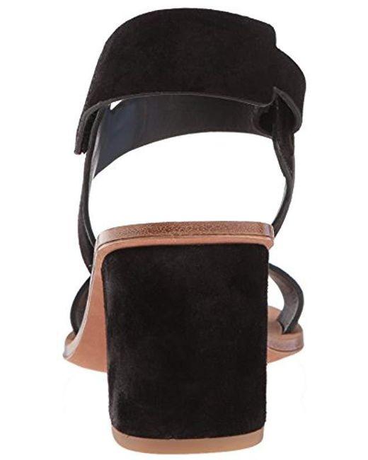 f9661d7d29a Lyst - Via Spiga Kamille Block Heel Sandal Heeled in Black - Save 72%