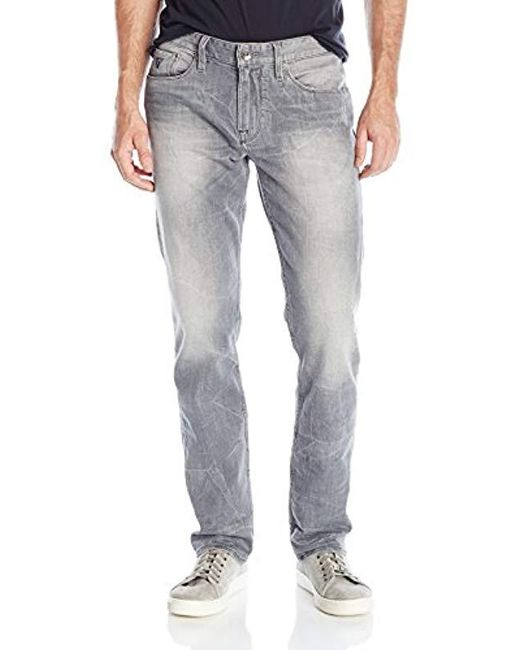 Guess - Gray Slim Straight Jeans for Men - Lyst