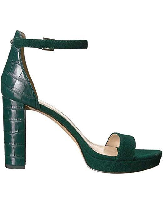 2aae6c6a10b7 Lyst - Nine West Dempsey Wool Sandal in Green - Save 13%