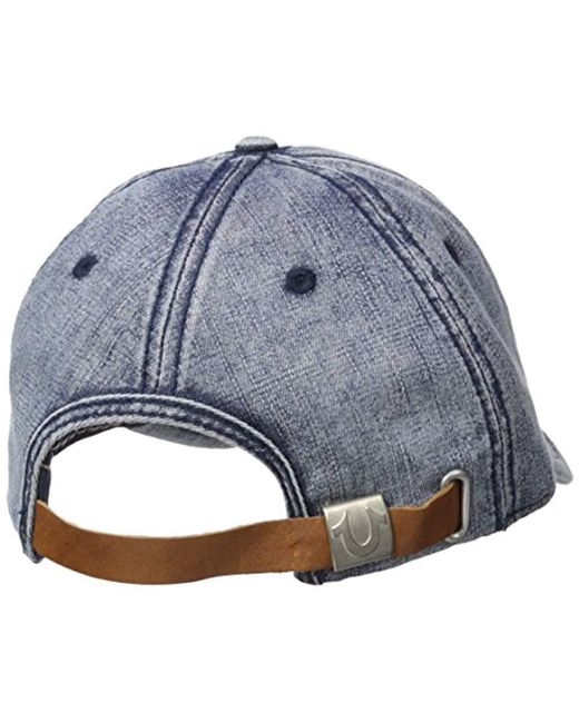 38fd0f47a67cd ... True Religion - Blue 6 Panel Moto Baseball Cap for Men - Lyst ...