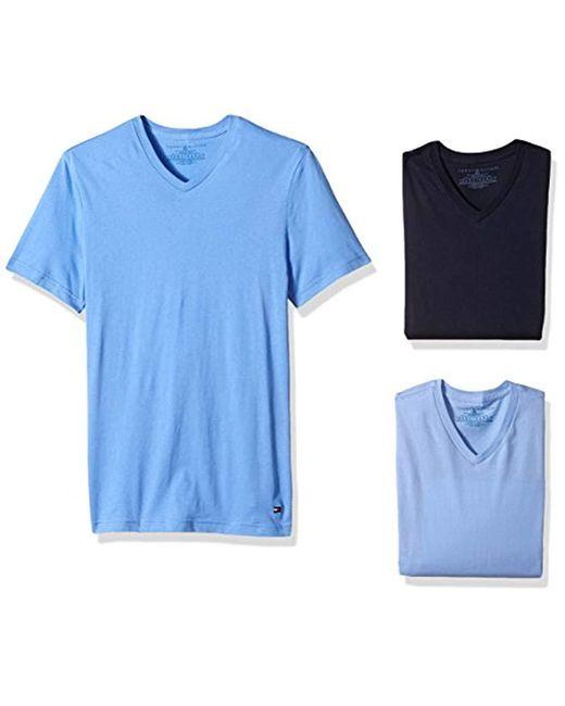 94d3c37a923e Tommy Hilfiger - Blue Undershirts 3 Pack Cotton Classics V-neck T-shirt for