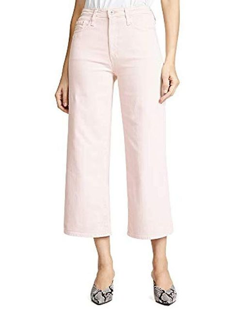 3cce0bf99914 AG Jeans - Pink Etta Wide Leg Crop - Lyst ...