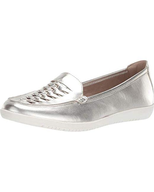 8f6eb081f9a Bandolino - Metallic Logan Flat (black) Women s Shoes - Lyst ...
