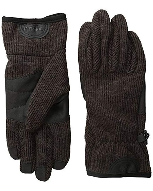 Timberland - Brown Ribbed-knit Wool-blend Glove With Touchscreen Technology for Men - Lyst