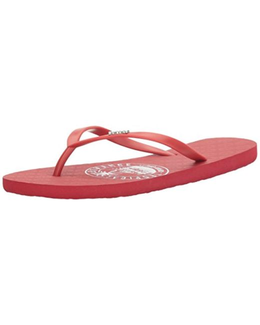 Roxy - Red Viva Stamp Flip Flop Sandal - Lyst