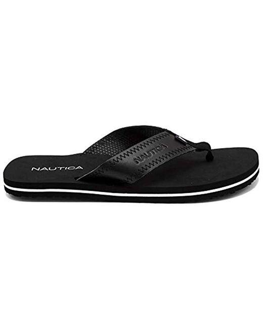 87ee99375907 ... Nautica - Black Tayrona Flip Flop